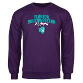 Purple Fleece Crew-Florida SouthWestern Alumni Arched