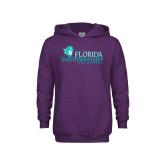 Youth Purple Fleece Hoodie-Florida SW Buccaneers