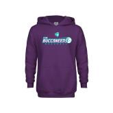 Youth Purple Fleece Hoodie-FSW Buccaneers Baseball