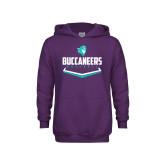 Youth Purple Fleece Hoodie-Buccaneers Baseball Plate