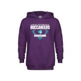 Youth Purple Fleece Hoodie-Buccaneers Baseball Diamond