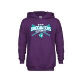 Youth Purple Fleece Hoodie-FSW Buccaneers Softball Crossed Sticks