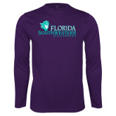 Performance Purple Longsleeve Shirt-Florida SW Buccaneers