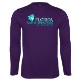 Syntrel Performance Purple Longsleeve Shirt-Florida SW Buccaneers