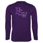 Performance Purple Longsleeve Shirt-FSW