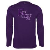 Syntrel Performance Purple Longsleeve Shirt-FSW
