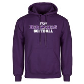 Purple Fleece Hoodie-Softball