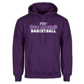 Purple Fleece Hoodie-Basketball