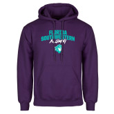 Purple Fleece Hoodie-Florida SouthWestern Alumni Arched