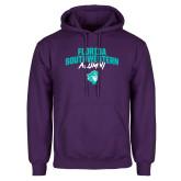 Purple Fleece Hoodie-Florida SouthWestern Alumni Arched