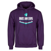 Purple Fleece Hoodie-Buccaneers Baseball Plate
