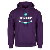 Purple Fleece Hoodie-Buccaneers Baseball Plate