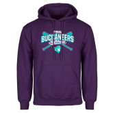 Purple Fleece Hoodie-FSW Buccaneers Softball Crossed Sticks