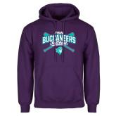 Purple Fleece Hoodie-FSW Buccaneers Softball Crossed Sticks