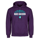Purple Fleece Hoodie-Buccaneers Basketball Half Ball
