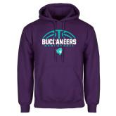 Purple Fleece Hoodie-Buccaneers Basketball Half Ball