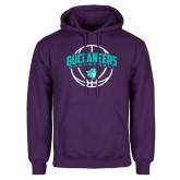 Purple Fleece Hoodie-Buccaneers Basketball Arched Ball
