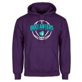 Purple Fleece Hoodie-Buccaneers Basketball Arched Ball