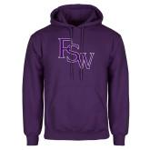 Purple Fleece Hoodie-FSW