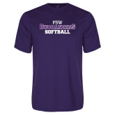 Performance Purple Tee-Softball