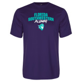 Performance Purple Tee-Florida SouthWestern Alumni Arched