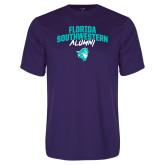 Syntrel Performance Purple Tee-Florida SouthWestern Alumni Arched