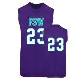 Replica Purple Adult Basketball Jersey-#23