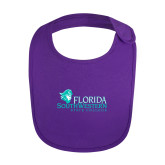 Purple Baby Bib-Primary Logo