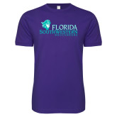 Next Level SoftStyle Purple T Shirt-Florida SW Buccaneers