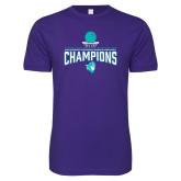 Next Level SoftStyle Purple T Shirt-Suncoast Womens Basketball Champions