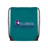 Teal Drawstring Backpack-Primary Logo