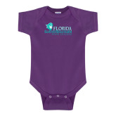 Purple Infant Onesie-Primary Logo