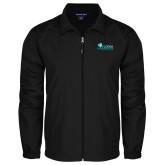 Full Zip Black Wind Jacket-Primary Logo