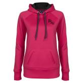 Ladies Pink Raspberry Tech Fleece Hoodie-FSW