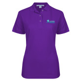 Ladies Easycare Purple Pique Polo-Florida SW Buccaneers