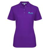 Ladies Easycare Purple Pique Polo-Florida SW Buccaneers