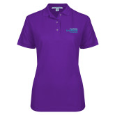 Ladies Easycare Purple Pique Polo-School of Education