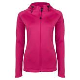 Ladies Tech Fleece Full Zip Hot Pink Hooded Jacket-FSW