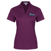 Ladies Purple Performance Fine Jacquard Polo-Florida SW Buccaneers