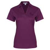 Ladies Purple Performance Fine Jacquard Polo-FSW