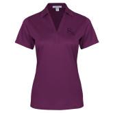 Ladies Purple Performance Fine Jacquard Polo-FSW