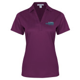Ladies Purple Performance Fine Jacquard Polo-School of Education