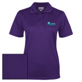 Ladies Purple Dry Mesh Polo-Primary Logo