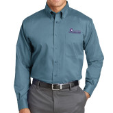 Red House Teal Long Sleeve Shirt-Primary Logo