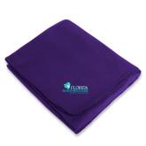 Purple Arctic Fleece Blanket-Primary Logo