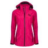 Ladies Dark Fuchsia Waterproof Jacket-FSW