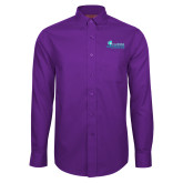 Red House Purple Long Sleeve Shirt-Primary Logo