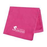 Pink Beach Towel-Primary Logo