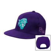 Purple Flat Bill Snapback Hat-Pirate