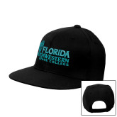 Black Flat Bill Snapback Hat-Primary Logo
